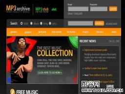 音乐网网页模板