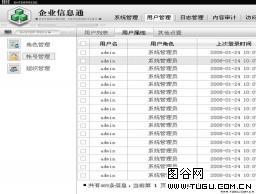会员信息管理后台网页模板