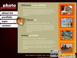 欧美式_个人相册主页模板