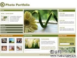 图片作品网页模板