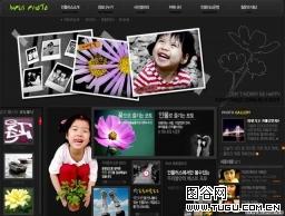 黑色摄影画册网页模板