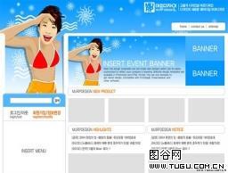 韩国比基尼女性泳装模板