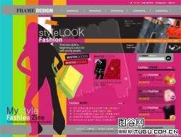 欧美流行,时尚网站模板