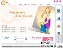 新款韩国女性模板