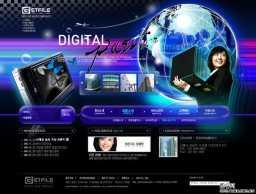 3款韩国网站首页PSD分层素材