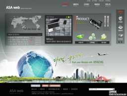 简洁的韩国网站首页psd2个