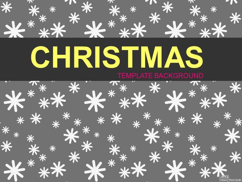 圣诞雪花 圣诞节主题ppt模板