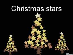 星星圣诞树节日PPT模板