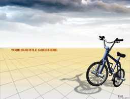 卡通自行车PPT模板