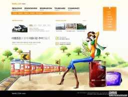卡通人物旅游旅行网