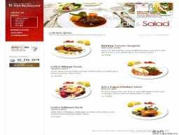 精美韩国饮食网站美食模板
