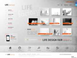 韩式质感银色家具家居类企业网页PSD模板