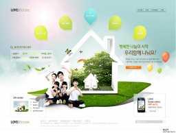 幸福的家庭组合!韩国房地产家居类企业网页PC电脑与iPad界面