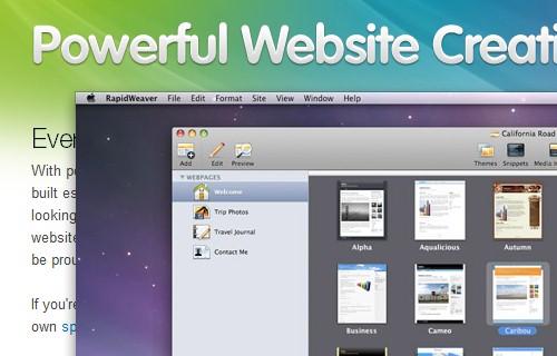 苹果机风格网页设计