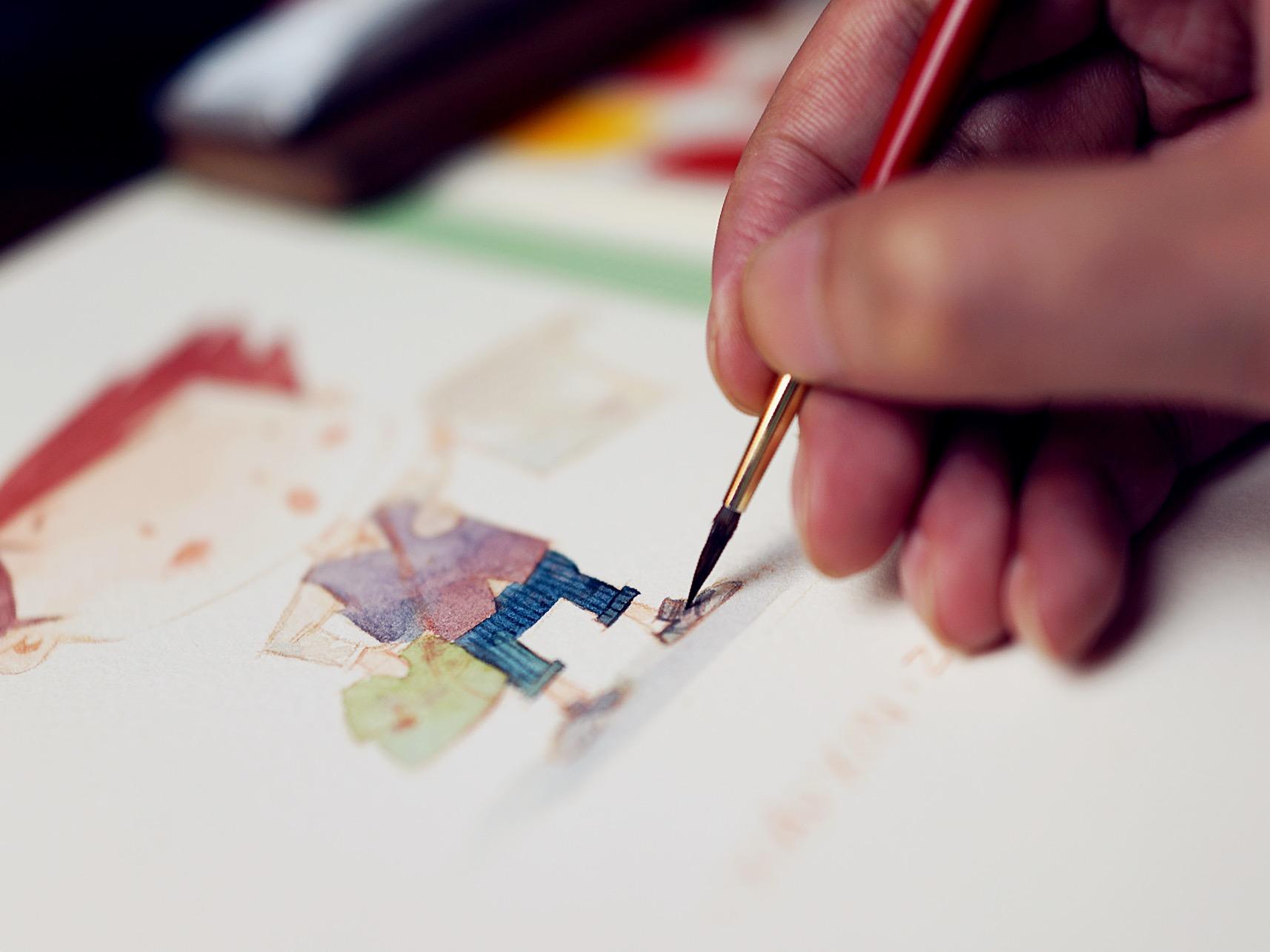 设计师必读!手绘水彩画的相关知识和技巧
